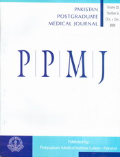 Pakistan Postgraduate Medical Journal